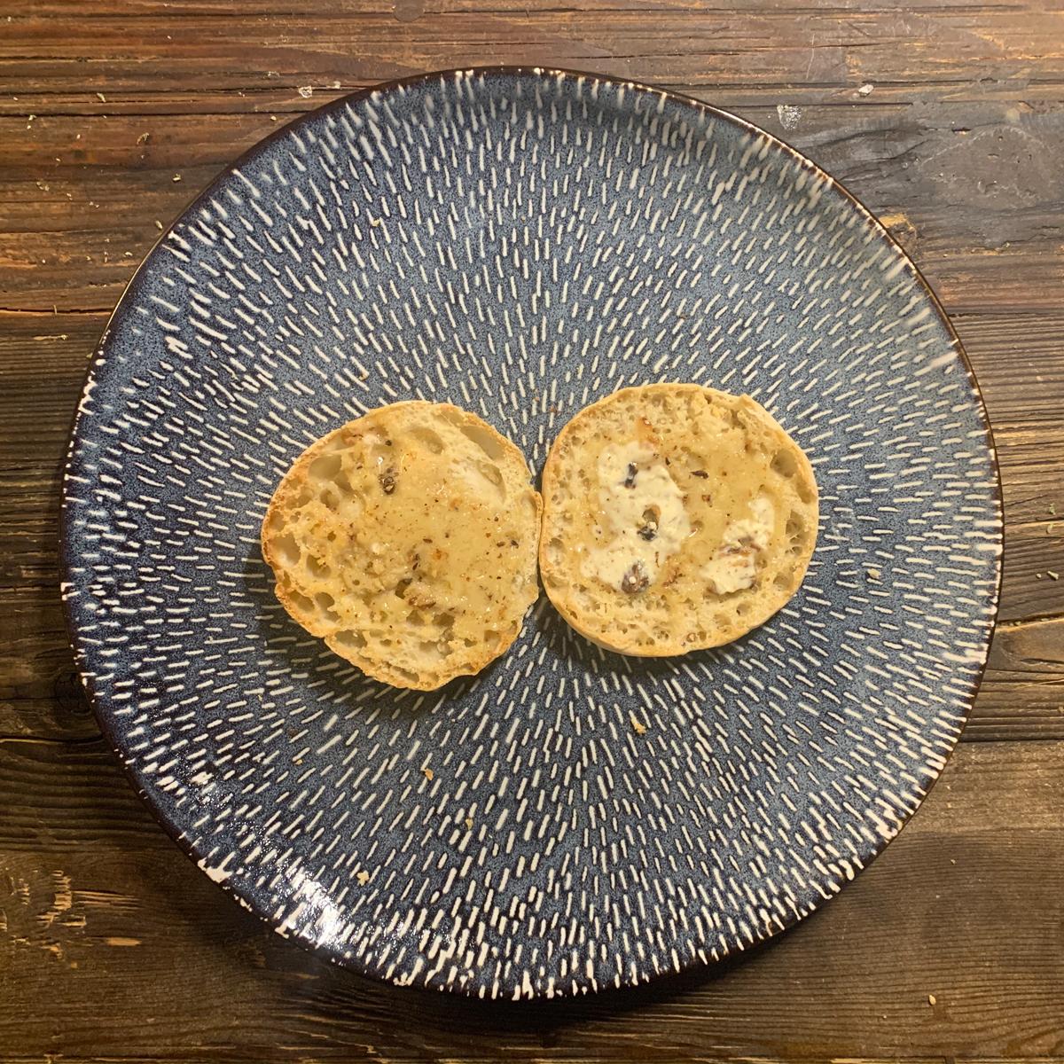 english muffin garlic bread