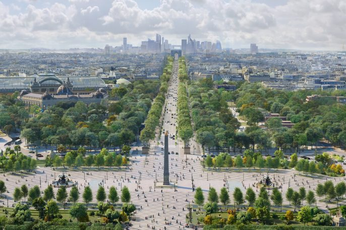 Rendering of Paris