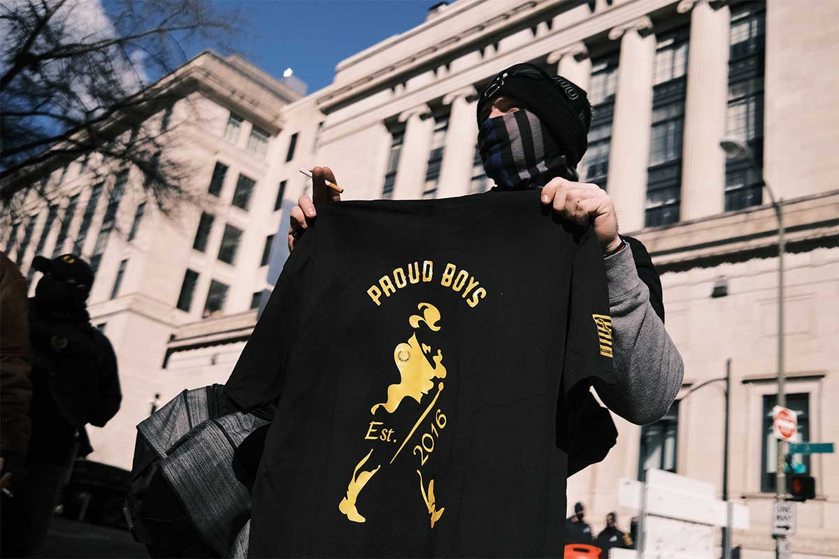 Proud Boys threatened with legal action from Diageo