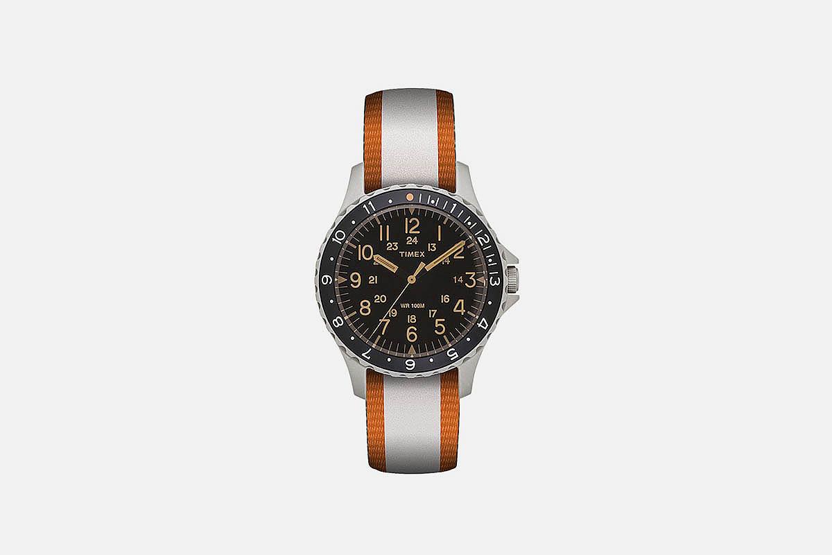 Timex Navi Ocean 38mm Reversible Fabric Strap Watch
