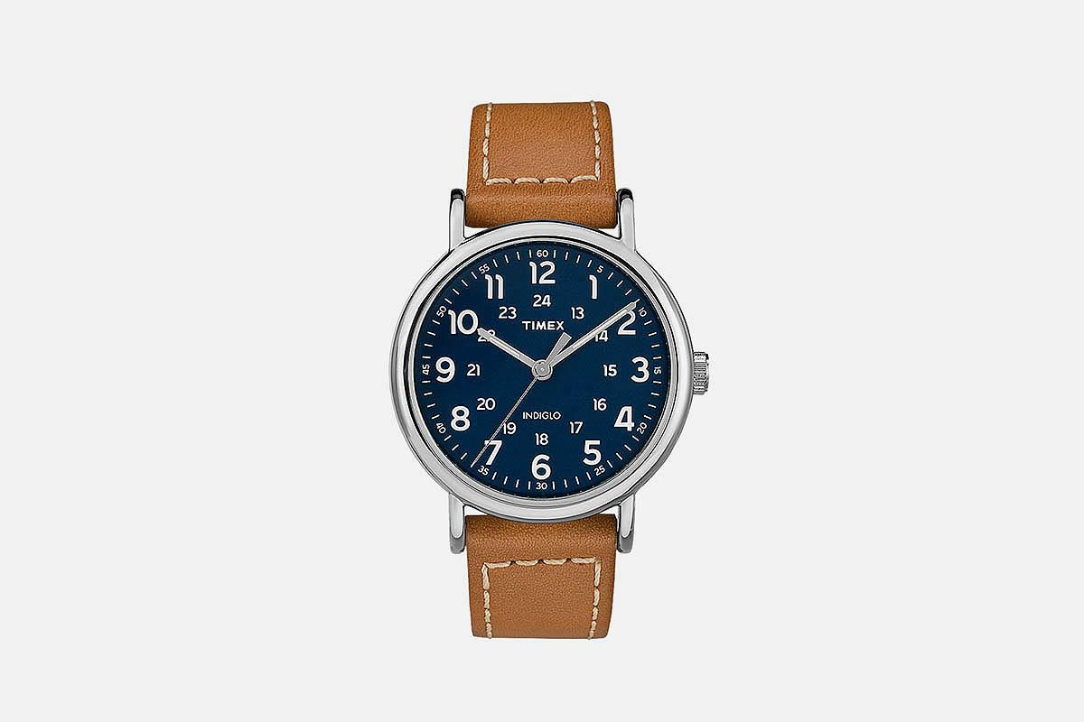Timex Weekender 2-piece 40mm Leather Strap Watch