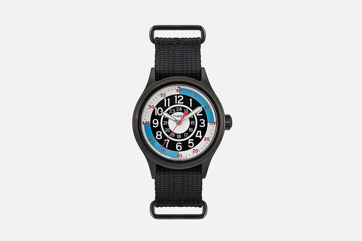 Timex x Todd Snyder Blackjack Inspired 40mm Fabric Strap Watch