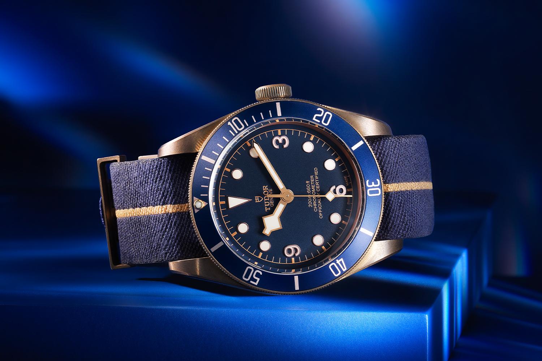 Tudor Black Bay Bronze Bucherer Blue watch
