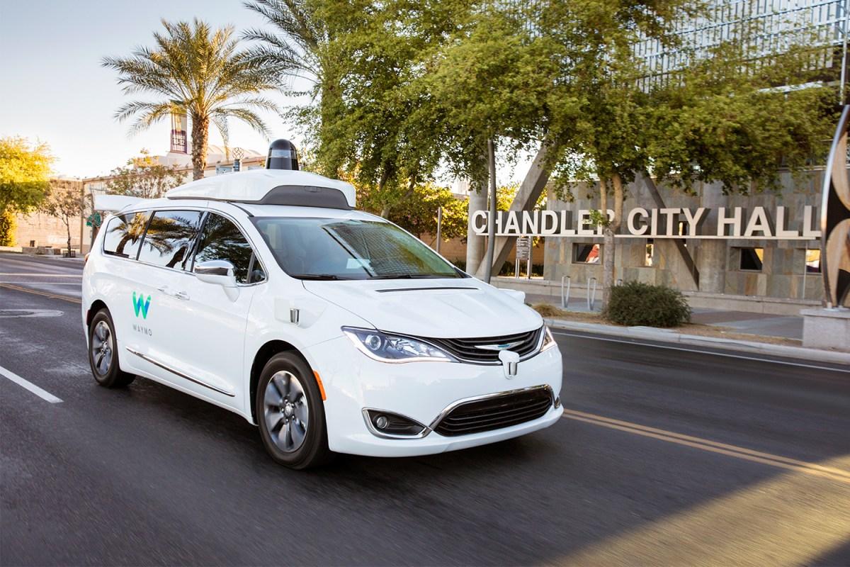 Waymo autonomous Chrysler Pacifica Hybrid minivan