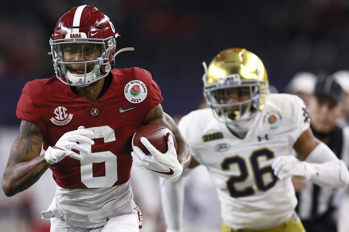 Alabama's DeVonta Smith Becomes 4th WR in History to Win Heisman Trophy