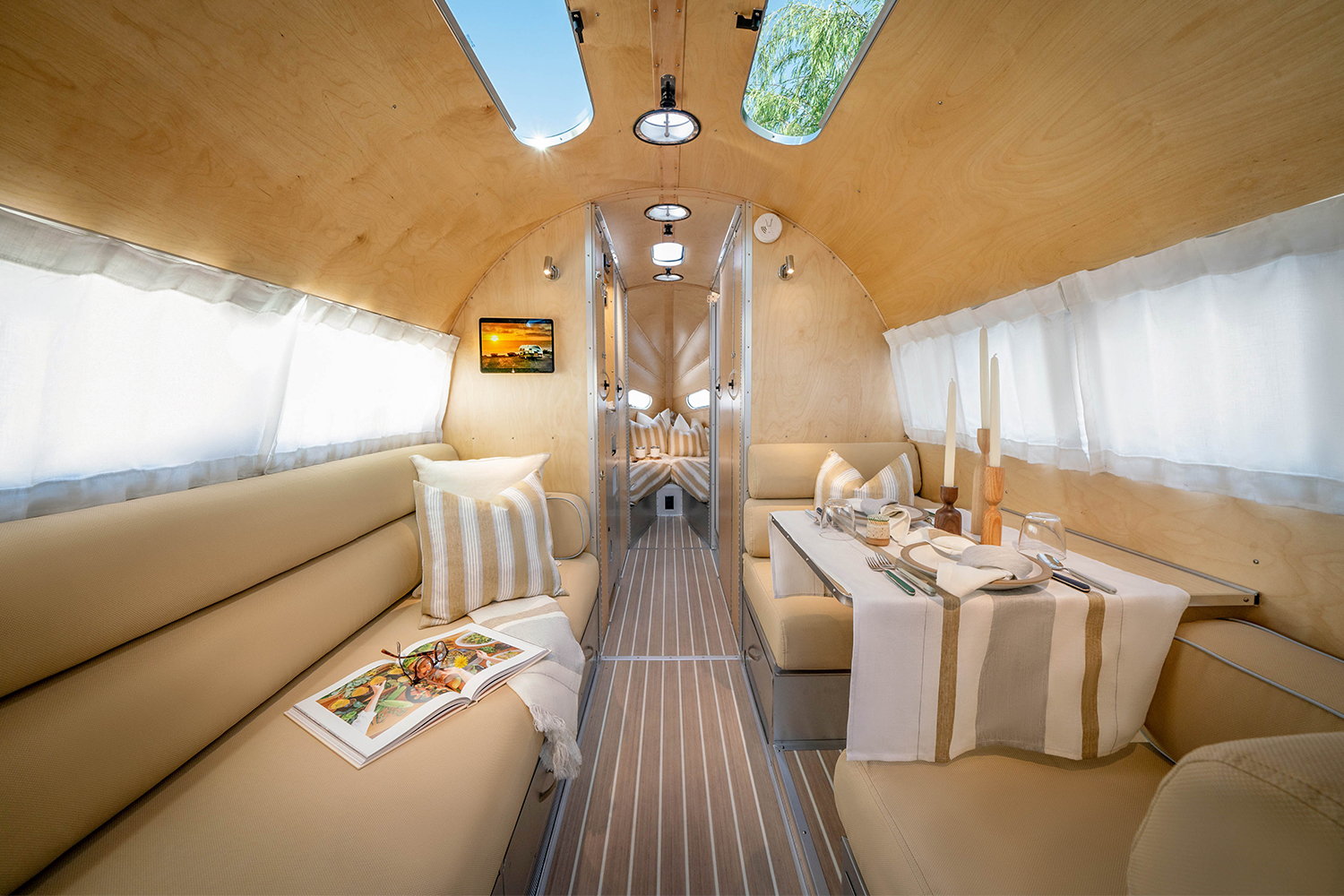 Bowlus travel trailer interior