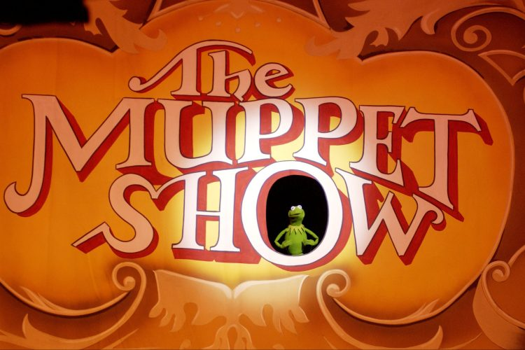 Kermit in The Muppet Show title card