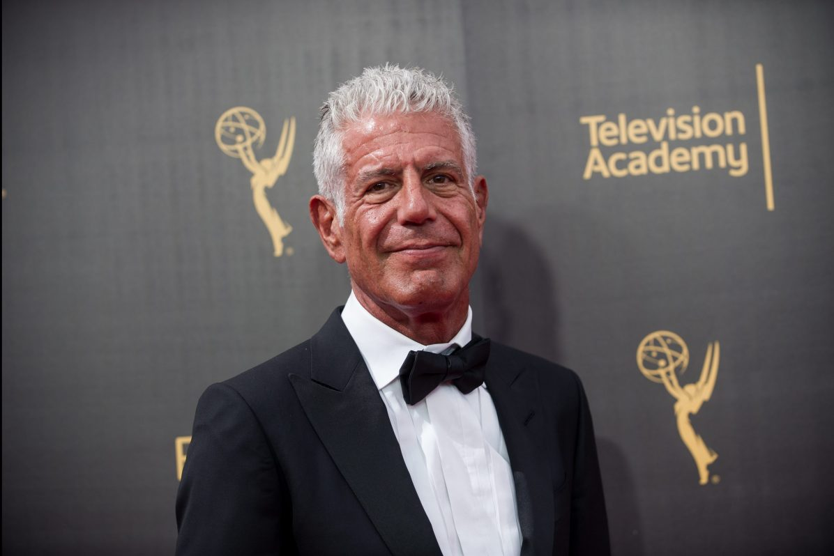 anthony bourdain at the Creative Arts Emmy Awards
