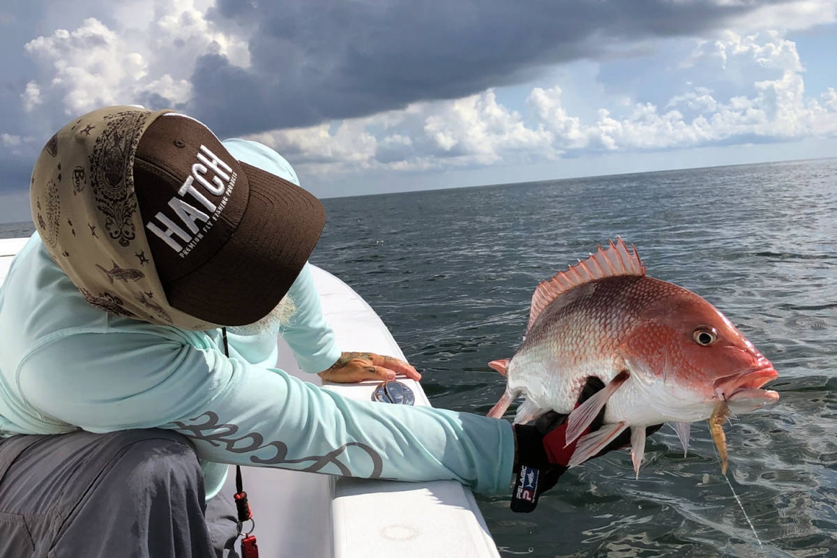 Red Snapper on a fly