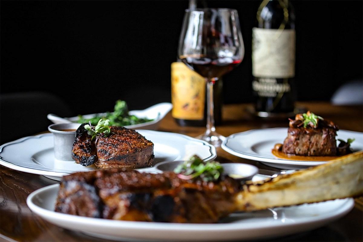 A steak dinner from Sophia in Wilmette