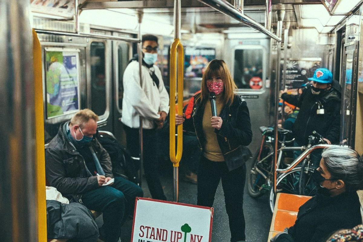 subway comedy pandemic