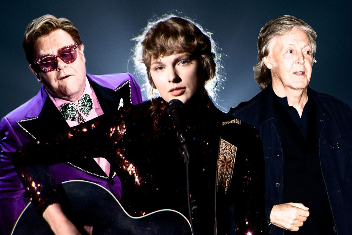 taylor swift, elton john and paul mccartney