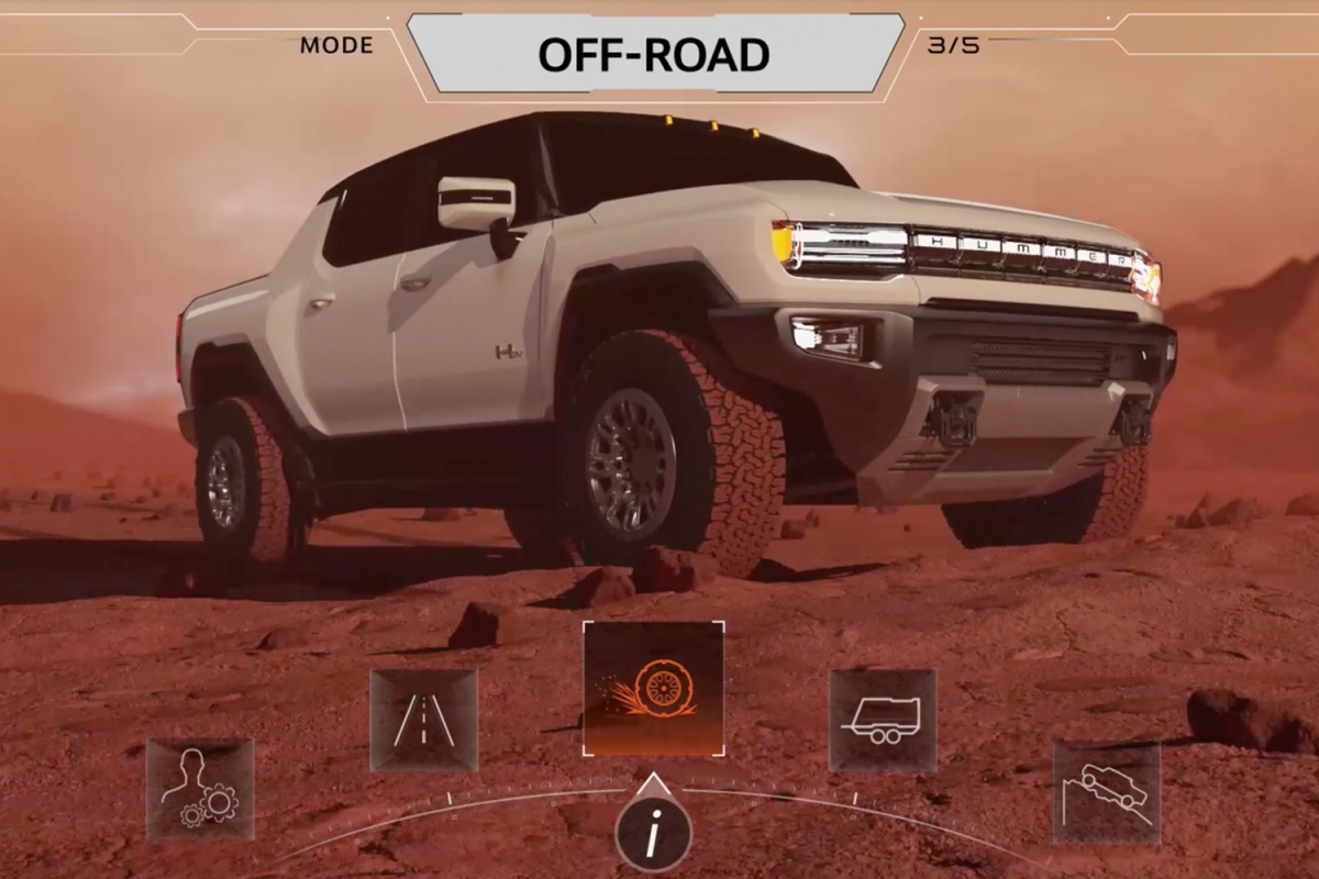 GMC Hummer EV Unreal Engine display