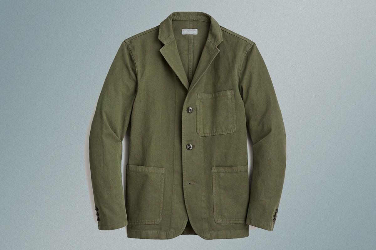 J.Crew Wallace & Barnes Cotton-Linen Chore Blazer