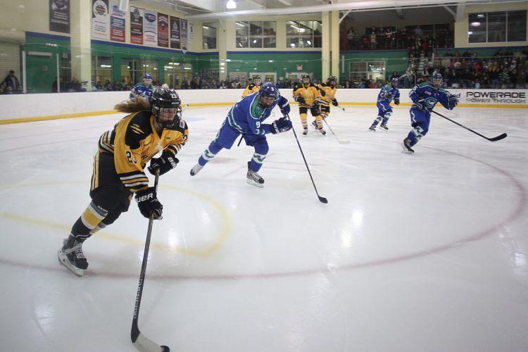 Connecticut Whale vs Boston Pride. National Women's Hockey League.
