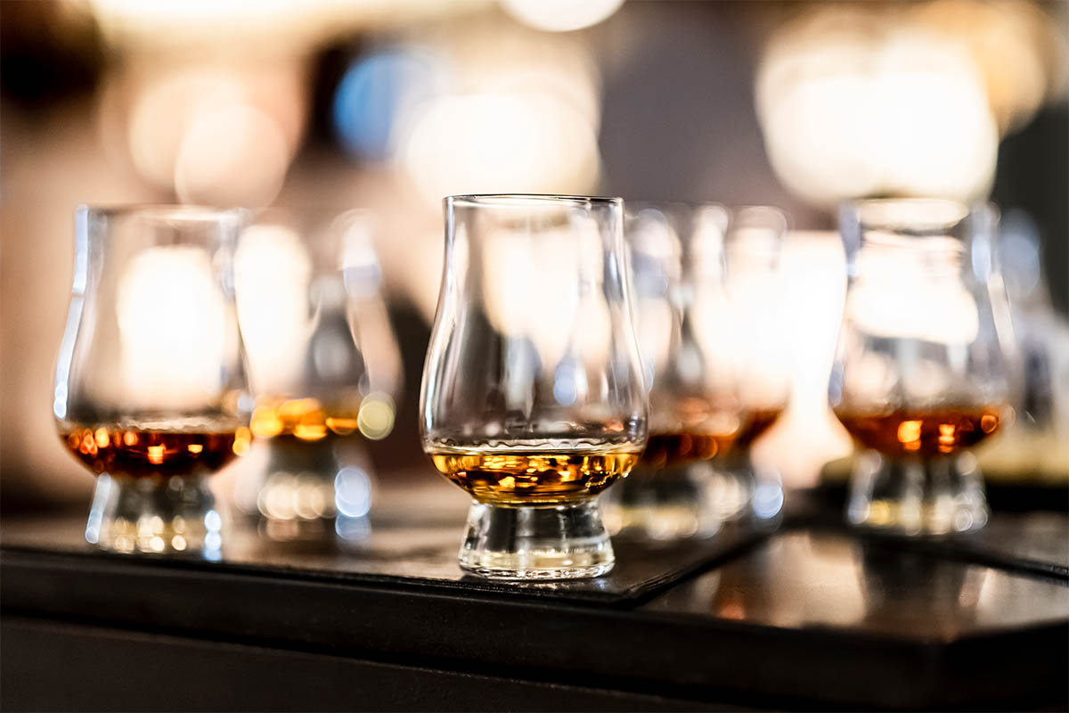 Scotch in whisky glasses