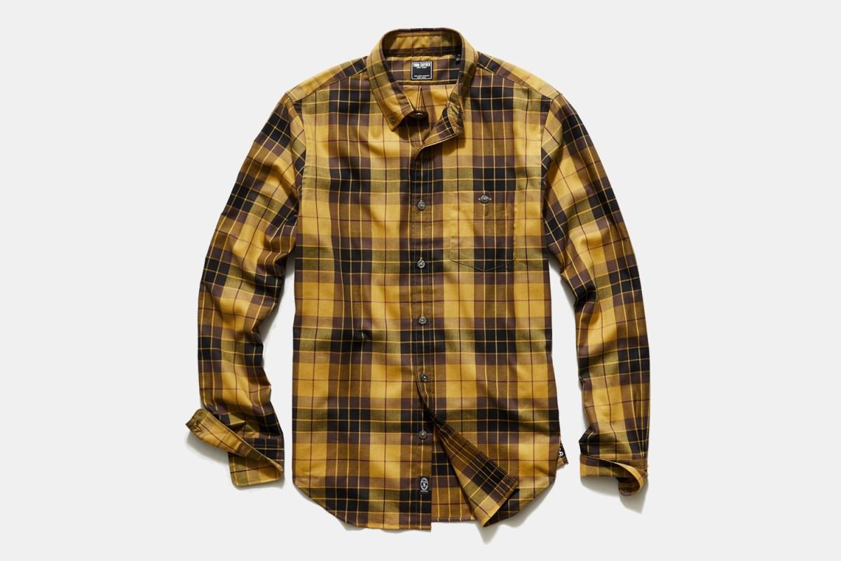 Todd Snyder Italian Mustard Plaid Flannel