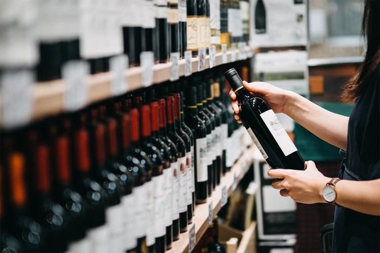 wine store bottles