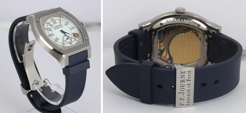 F.P. Journe Elegante Titanium 48mm White Blue Strap Electromechanical Watch