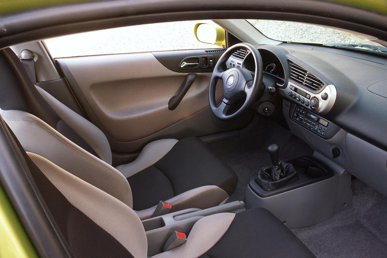 The interior of a 2000 Honda Insight hybrid