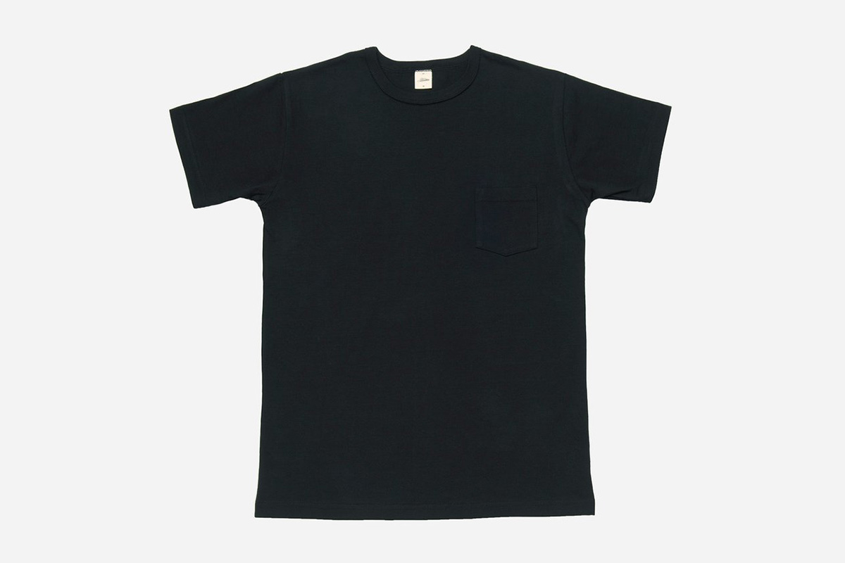 model in a 3sixteen Heavyweight Pocket T-Shirt