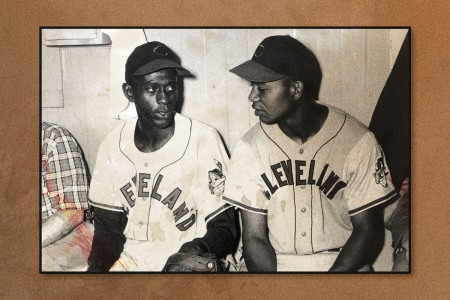 Satchel Paige played for the Cleveland Indians from 1948–1949 and Larry Doby played for the Cleveland Indians from 1947-1955.
