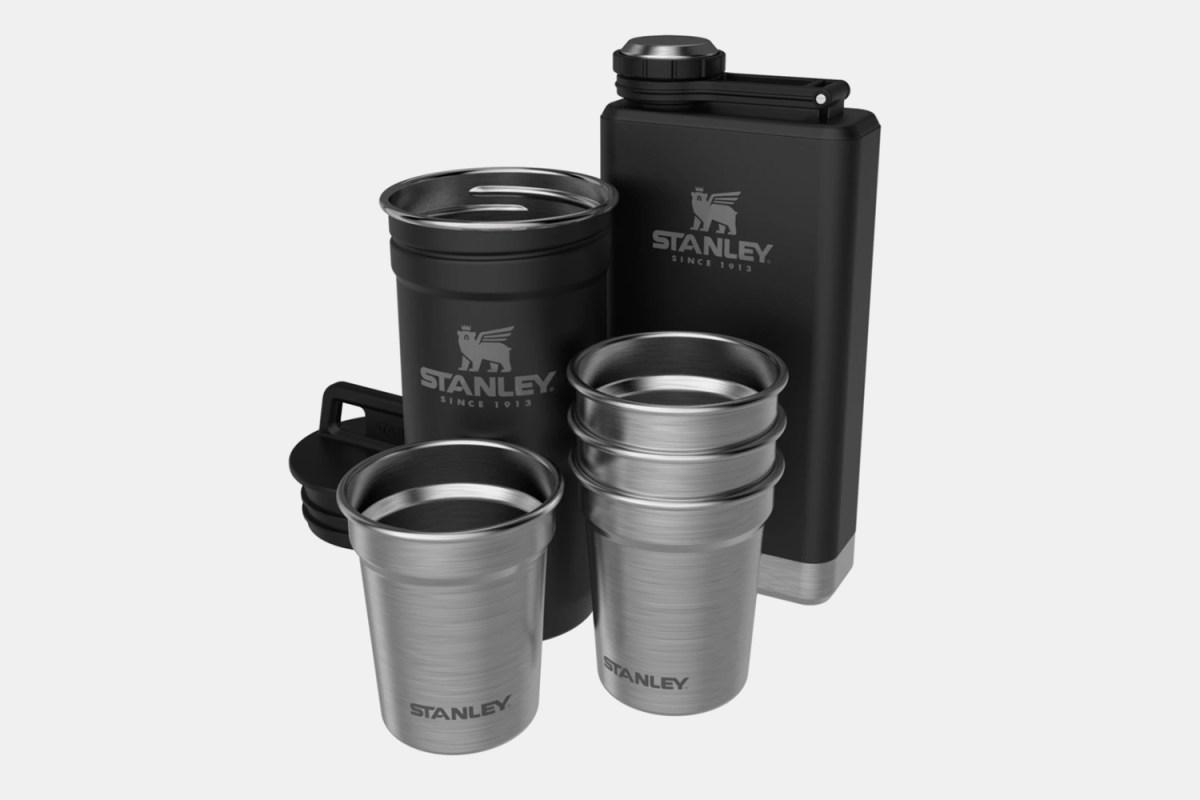 Adventure Pre-Party Shot Glass Flask Set