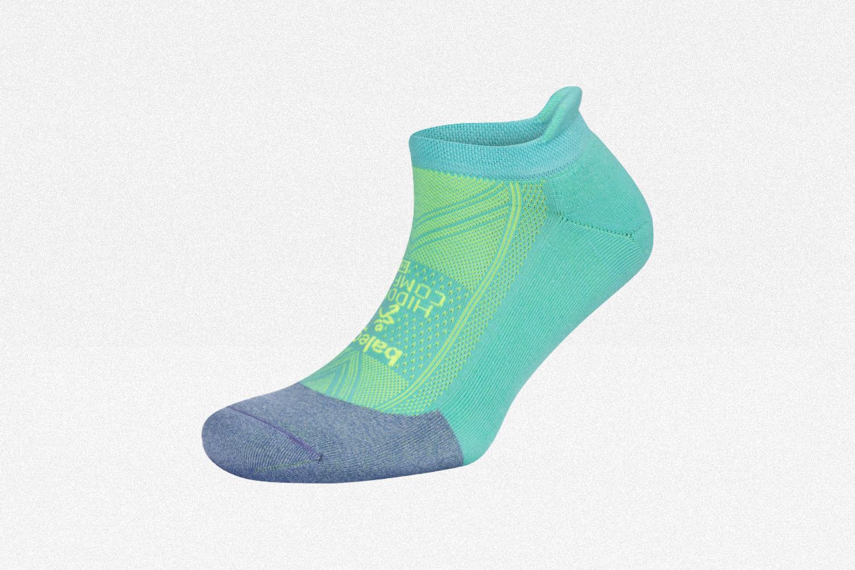 Balega Hidden Comfort Running Sock in blue and green