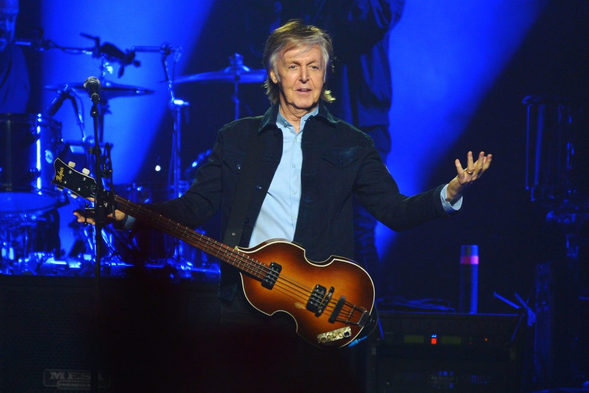 Sir Paul McCartney performs live on stage at the O2 Arena during his 'Freshen Up' tour, on December 16, 2018 in London, England.