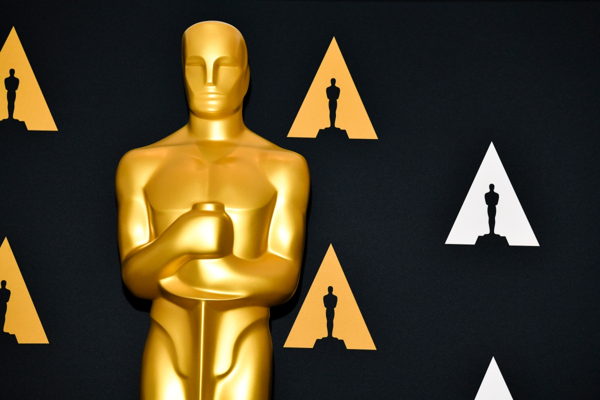 Oscar statue at the Samuel Goldwyn Theater on February 04, 2020 in Beverly Hills, California.