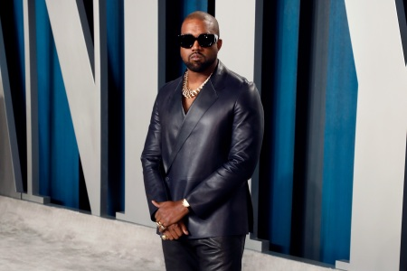 Kanye West attends the 2020 Vanity Fair Oscar Party at Wallis Annenberg Center for the Performing Arts on February 09, 2020 in Beverly Hills, California