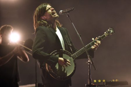 Winston Marshall of Mumford & Sons performs during the Okeechobee Music Festival at Sunshine Grove on March 08, 2020 in Okeechobee, Florida.