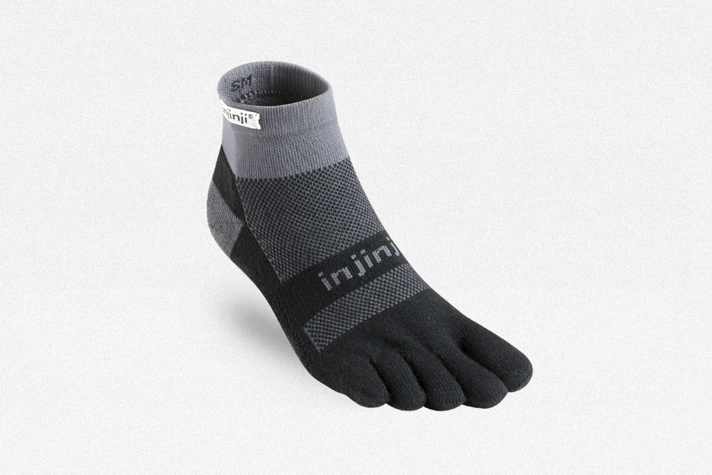 Injinji Run Midweight Mini-Crew Running Socks