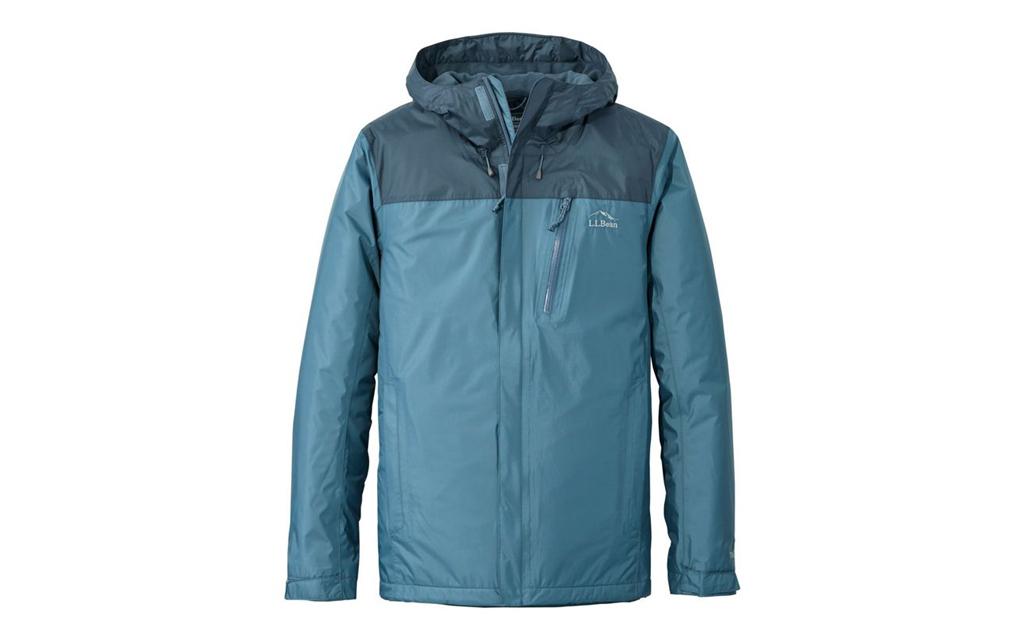 L.L. Bean Trail Model Rain Jacket in two shades of blue