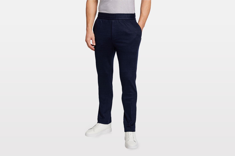 Salvatore Ferragamo Solid Linen-Cotton Pants neiman marcus