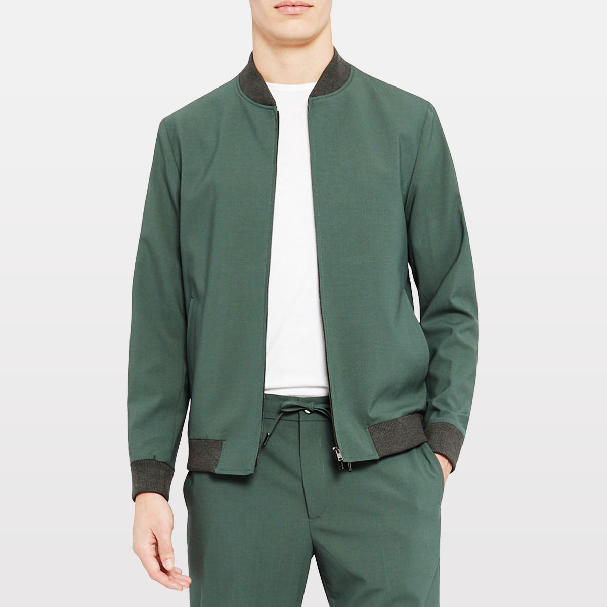 Theory Aiden Solid Wool Bomber Jacket neiman marcus