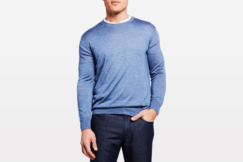 Ermenegildo Zegna Men's Solid Crewneck Sweater neiman marcus