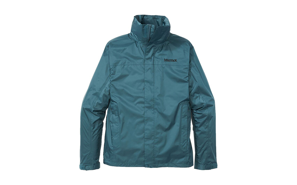 Marmot Precip Eco Rain Jacket in soft turquoise