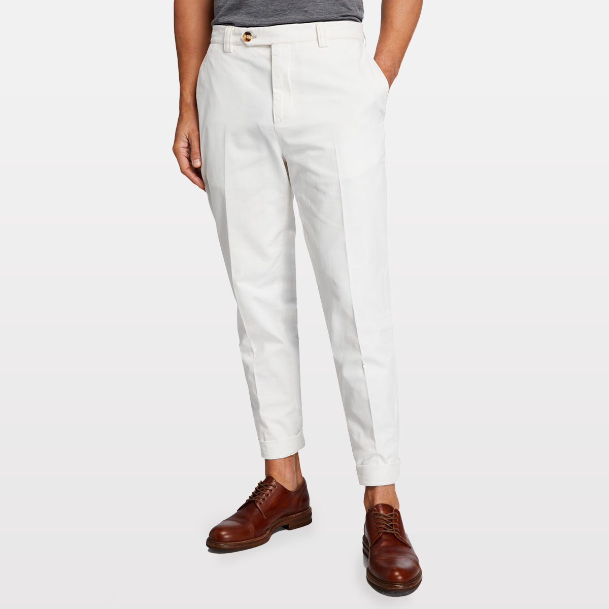 Brunello Cucinelli Leisure-Fit Cotton Pants