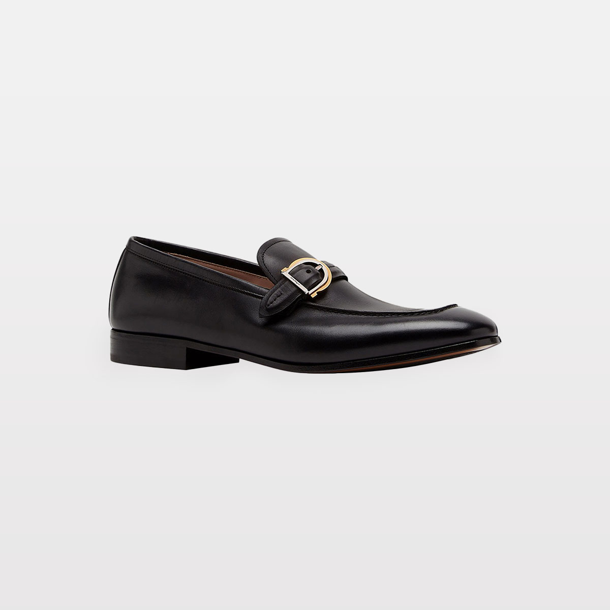 Salvatore Ferragamo Men's Portland Leather Loafers w/ Gancio Buckle