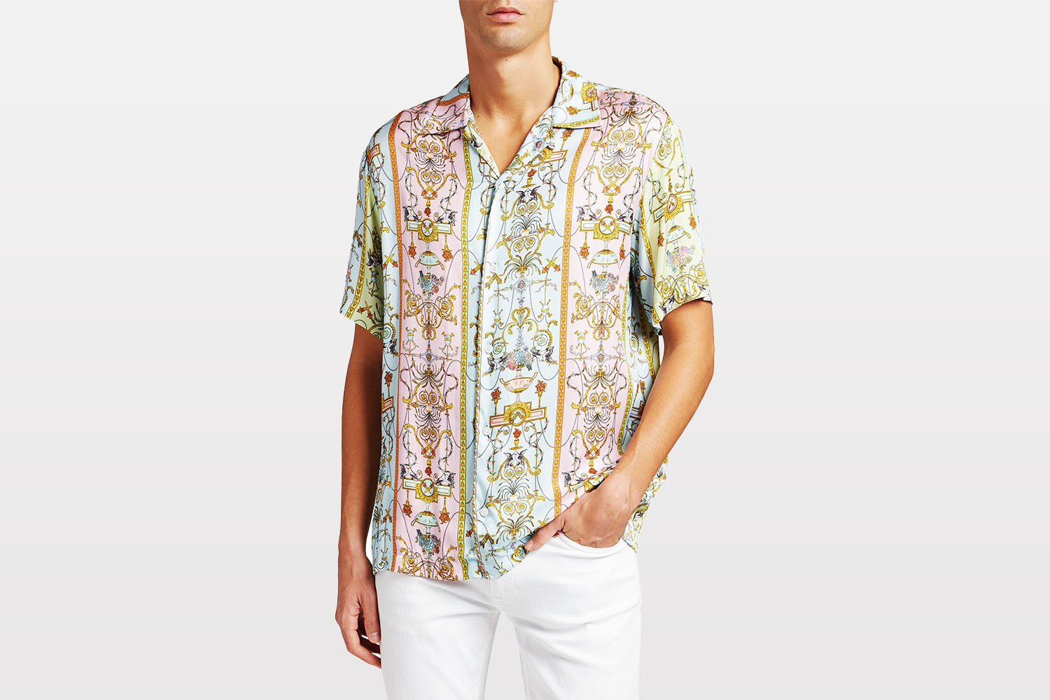 Versace Tuileries Printed Sport Shirt from Neiman Marcus
