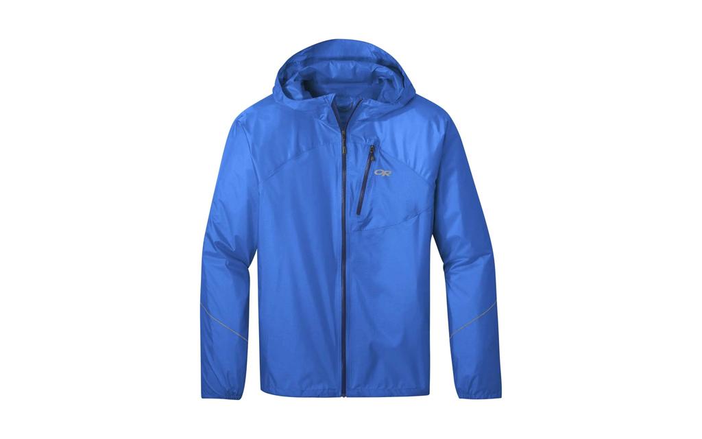 Outdoor Research Helium Rain Jacket in light blue