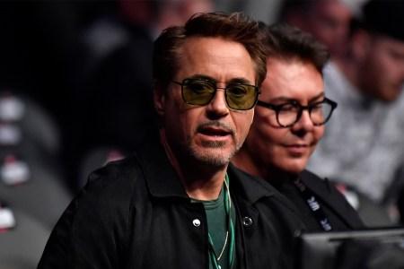 Robert Downey Jr. at a UFC event