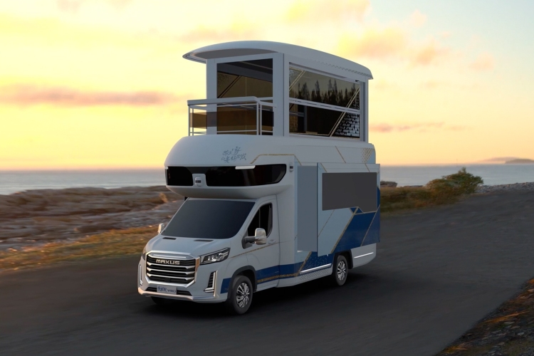 SAIC Maxus V90 Villa Edition RV with an elevator