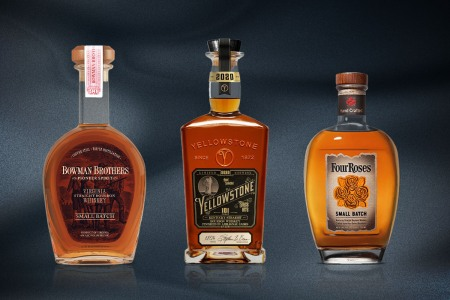 small batch whiskeys by bowman brothers, yellowstone and four roses