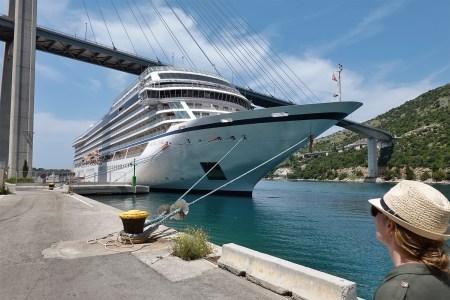 The Viking Star anchored in Croatia