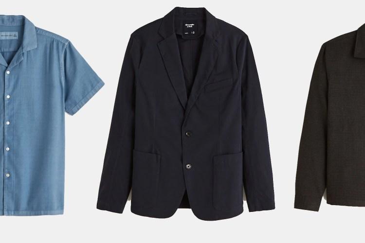 Shop cotton blazers, camp collar shirts, overshirts and more.