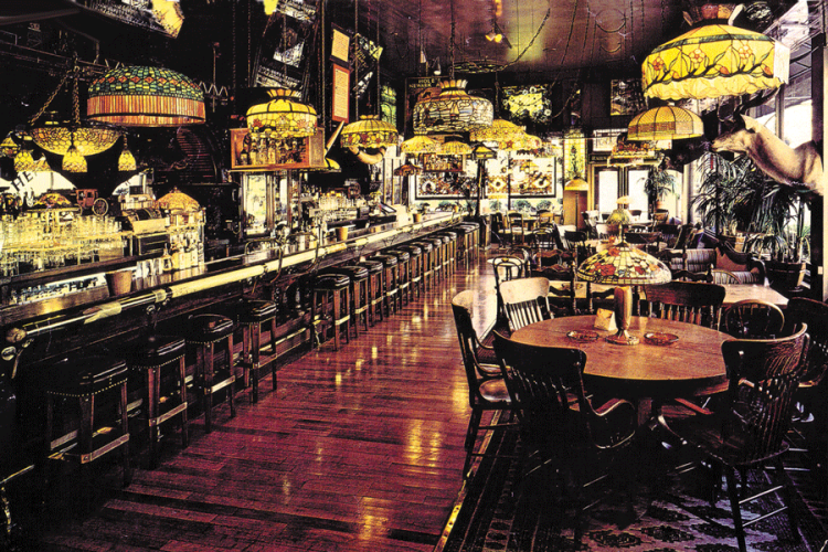 The bar room at Henry Africa's in its hey day