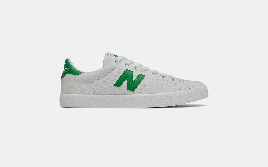 New Balance All Coasts 210 in White with Green