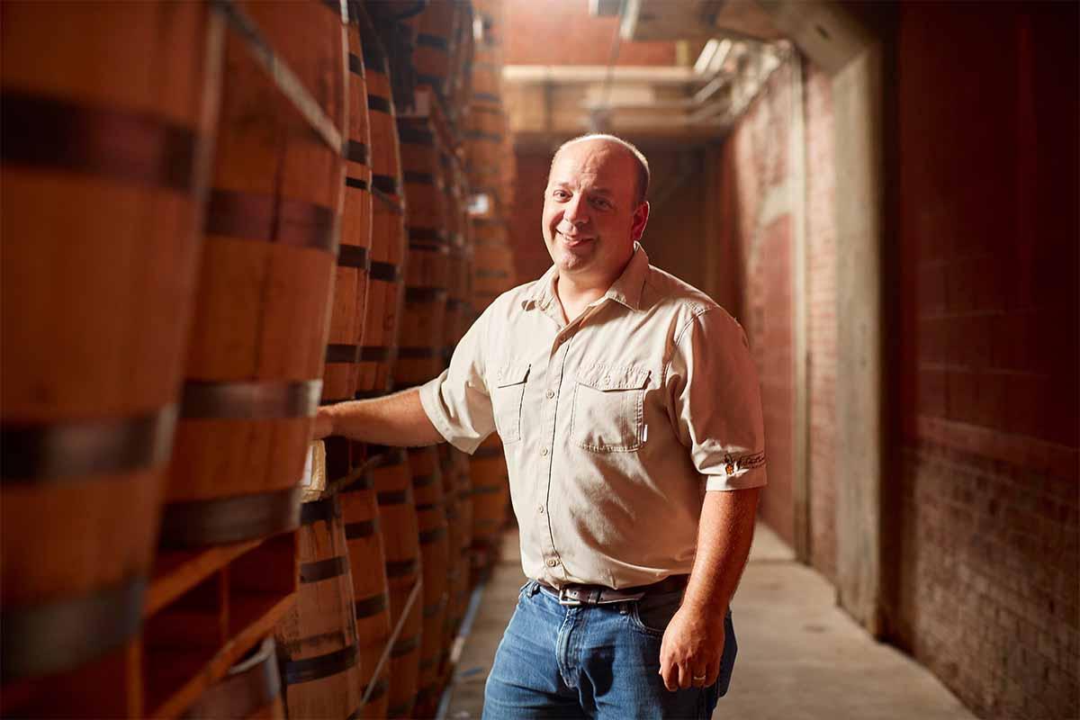 Brian Prewitt, Master Distiller at A. Smith Bowman Distillery, in the distillery